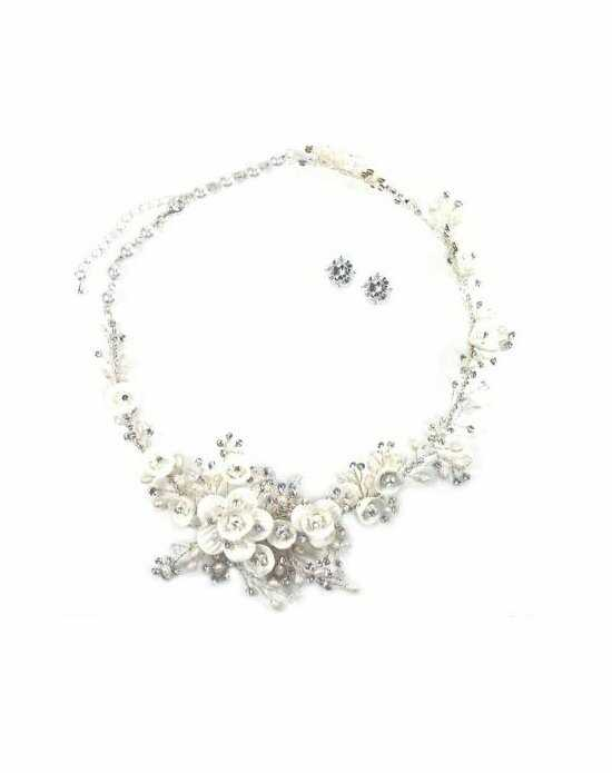 Anna Bellagio Rosalina Floral Necklace and Earring Set Wedding Earring photo