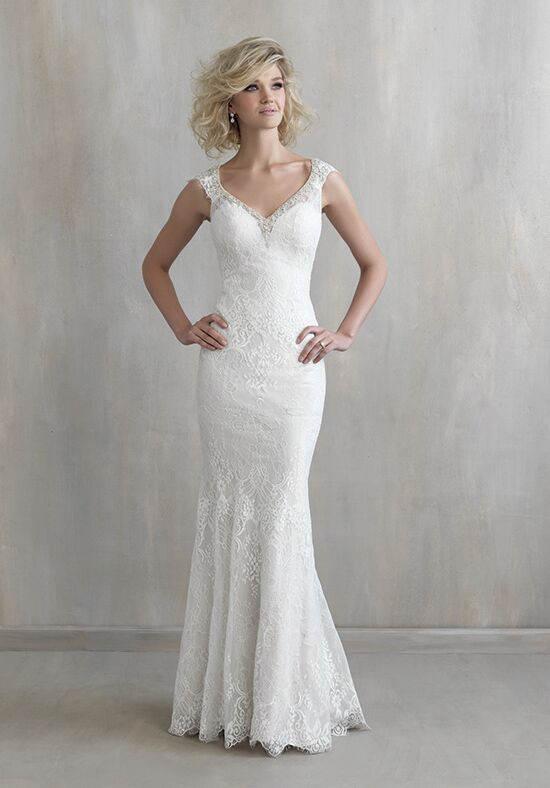 Madison james mj211 wedding dress the knot for Madison james wedding dress prices