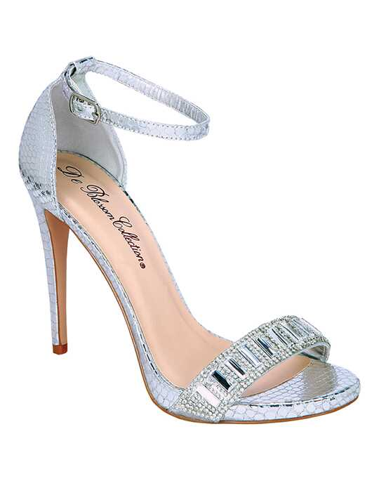 De Blossom Collection Angie-10 Silver Shoe