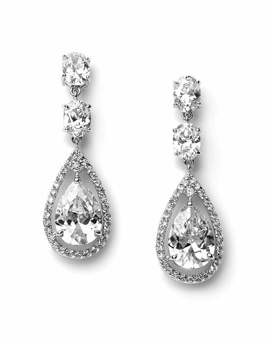 USABride Tara CZ Earrings JE-1189 Wedding Earring photo