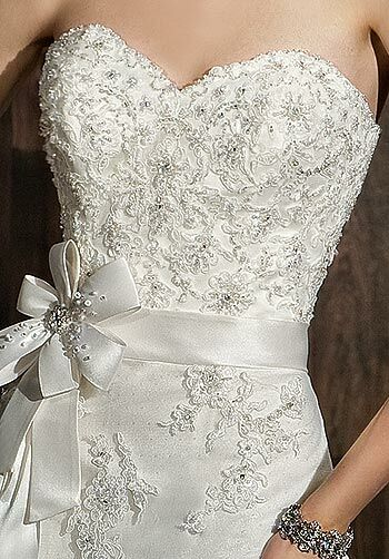 Demetrios 1423 Sheath Wedding Dress