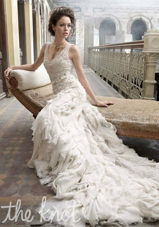 Lazaro 3202 A-Line Wedding Dress