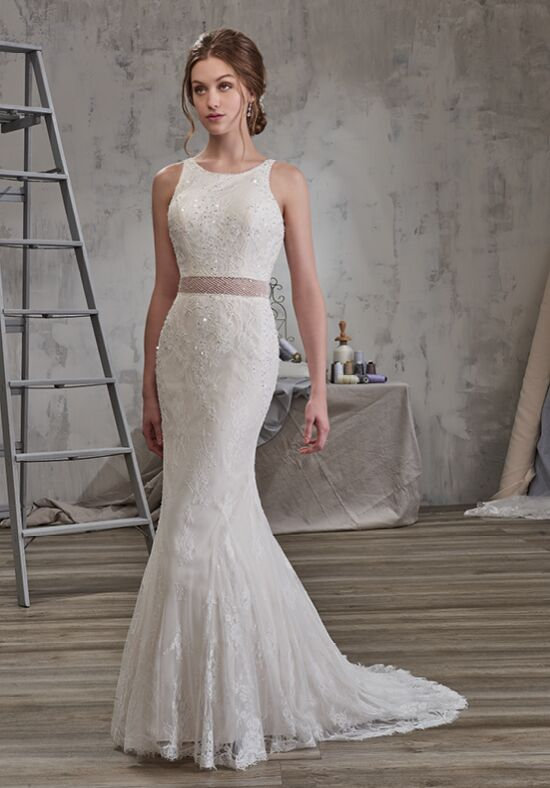 1 Wedding by Mary's Bridal 6590 Mermaid Wedding Dress