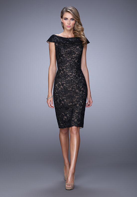 La Femme Evening 21649 Black Mother Of The Bride Dress