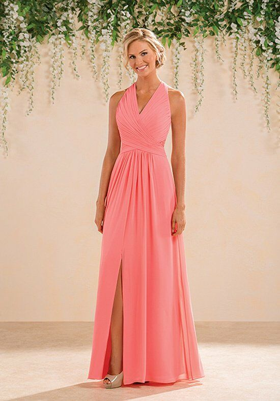 B2 by Jasmine B183008 Halter Bridesmaid Dress