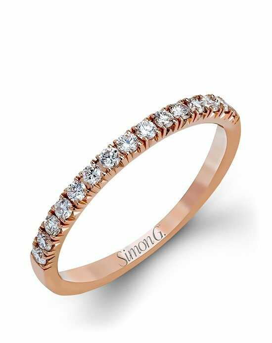 Simon G. Jewelry MR2132-BAND Rose Gold Wedding Ring