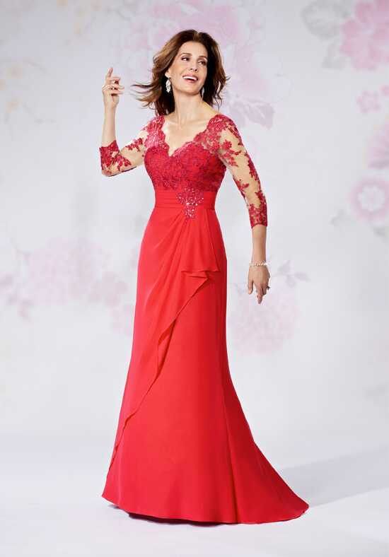 Beautiful Mothers by Mary's M2729 Red Mother Of The Bride Dress