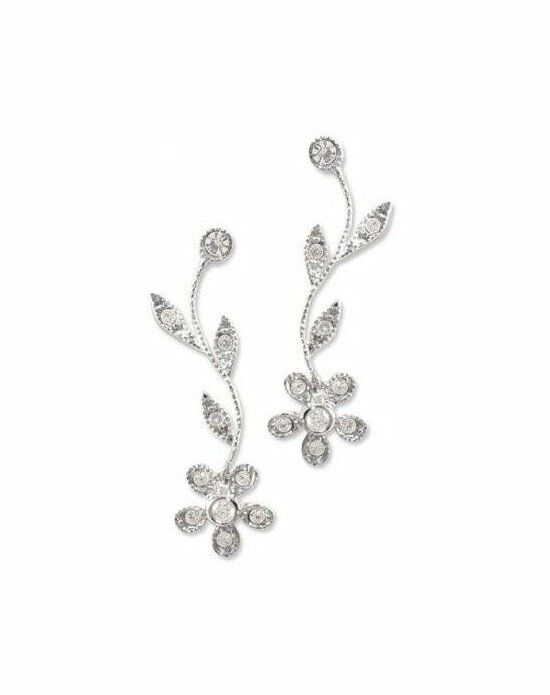 Anna Bellagio LIZA CUBIC ZIRCONIA AND CRYSTAL FLOWER EARRINGS Wedding Earring photo