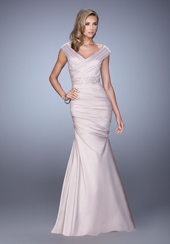 La Femme Evening 21664 Champagne Mother Of The Bride Dress