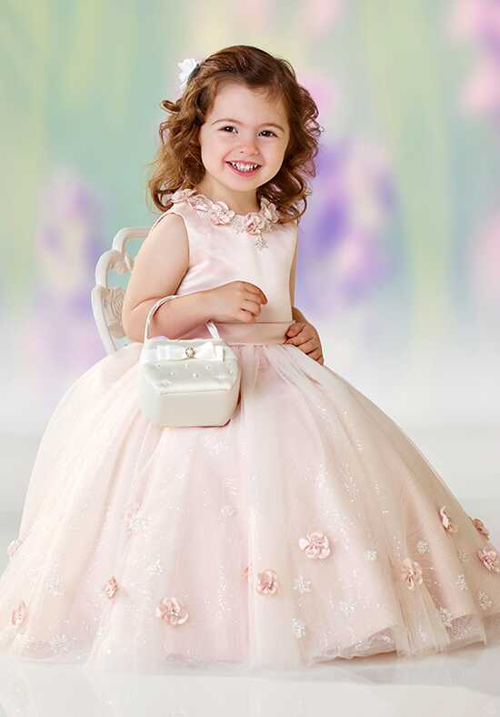 Joan Calabrese by Mon Cheri 118301 Pink Flower Girl Dress