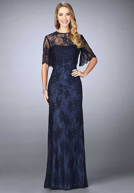 La Femme Evening 24856 Blue Mother Of The Bride Dress