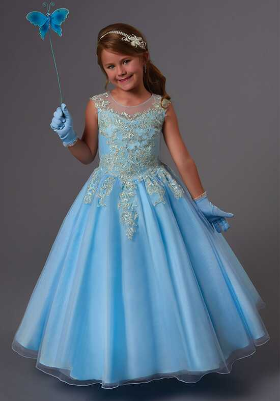 Cupids by Mary's F552 Blue Flower Girl Dress