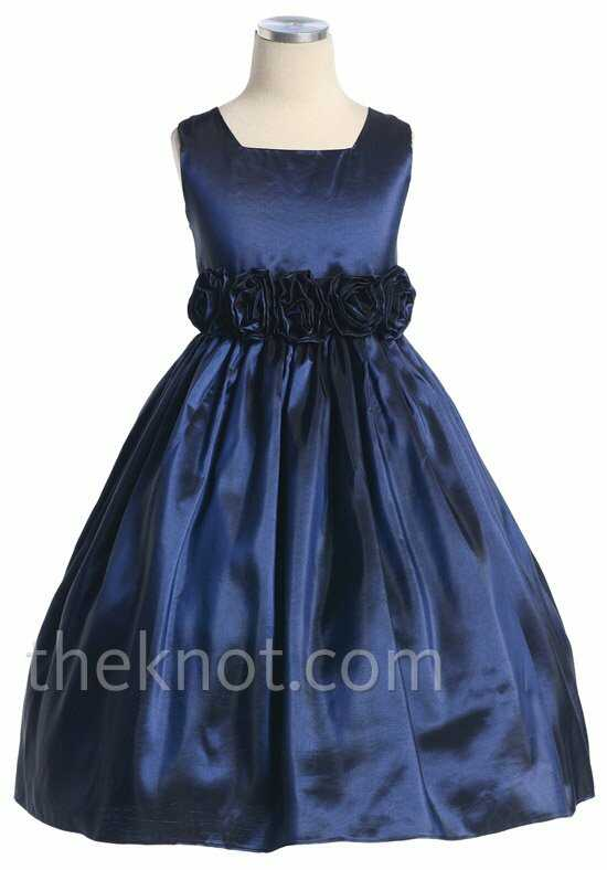 Pink Princess D3030 Blue Flower Girl Dress