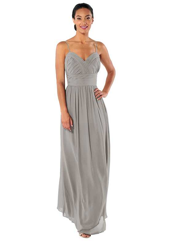 Brideside Betty in Early Grey Sweetheart Bridesmaid Dress