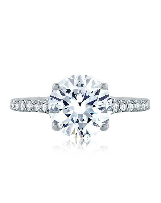 A.JAFFE Unique Round Cut Engagement Ring
