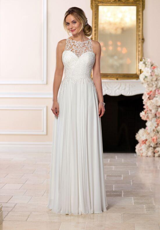 pink and white halter wedding dress
