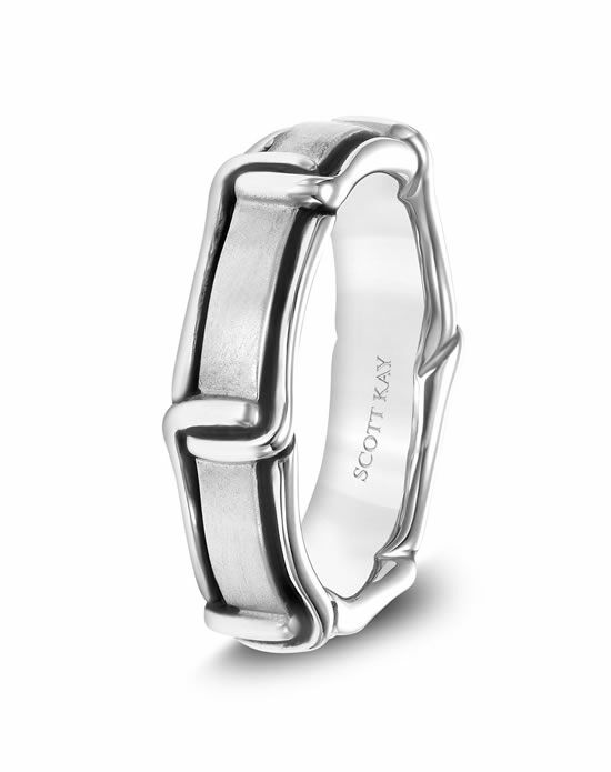 Scott Kay G4085CV6 Platinum Wedding Ring
