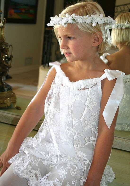 Isabel Garretón Delight White Flower Girl Dress