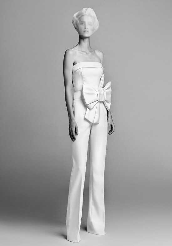 Viktor&Rolf Mariage Strapless bow jumpsuit Sheath Wedding Dress