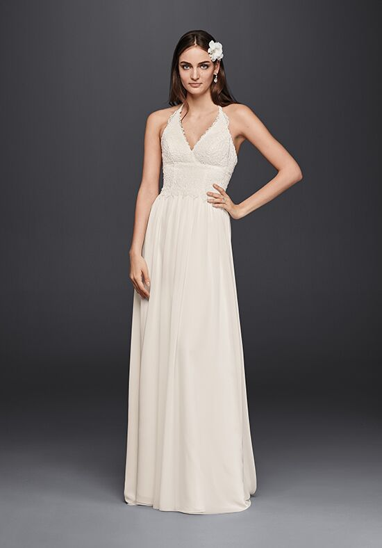 David's Bridal Galina Style WG3819 Sheath Wedding Dress