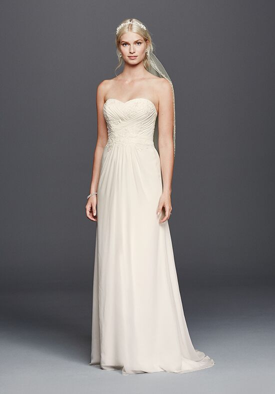 David's Bridal David's Bridal Collection Style WG3793 Sheath Wedding Dress