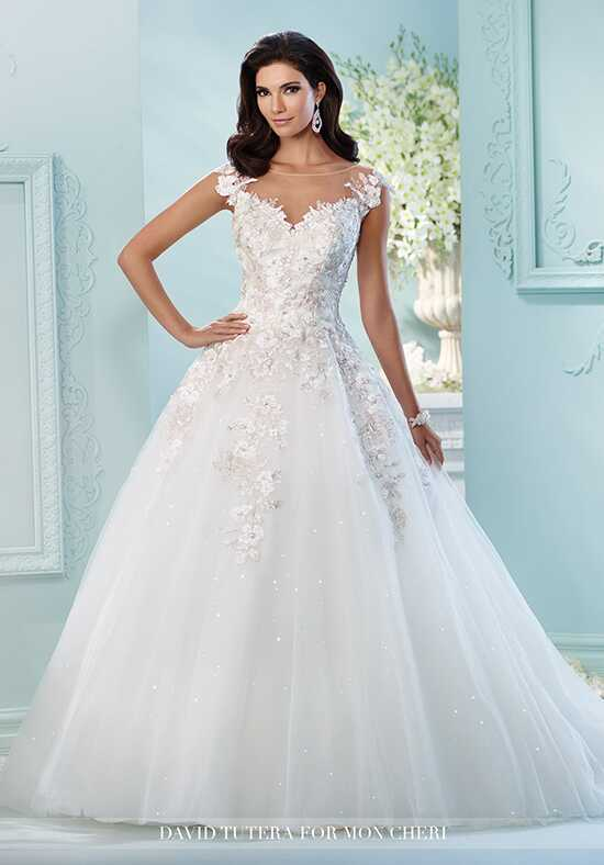 David Tutera for Mon Cheri 216238 Jay Ball Gown Wedding Dress