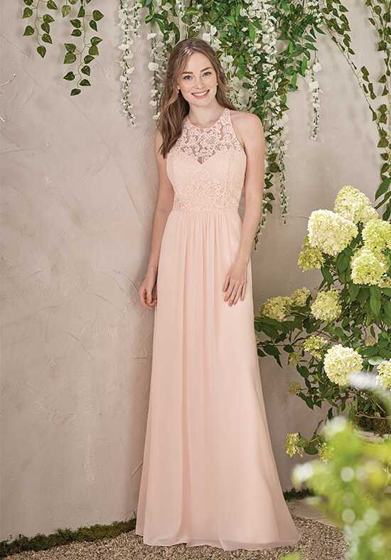 B2 by Jasmine B193008 Illusion Bridesmaid Dress
