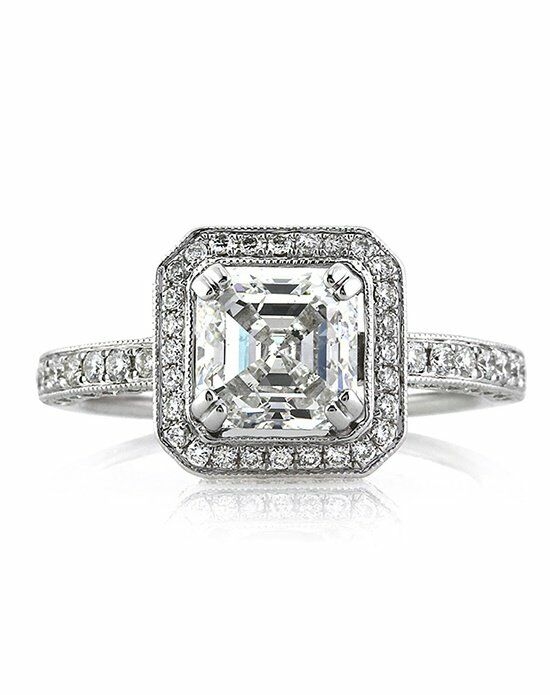 Mark Broumand Vintage Asscher Cut Engagement Ring
