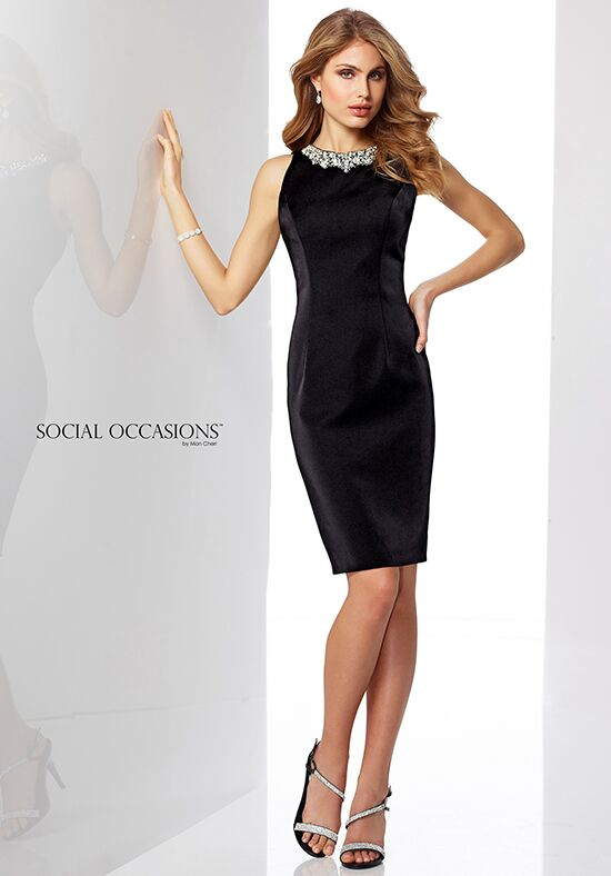 Social Occasions by Mon Cheri 217851 Black Mother Of The Bride Dress