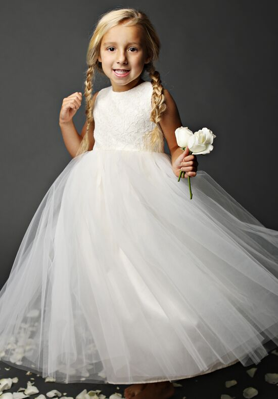 FATTIEPIE snow Ivory Flower Girl Dress