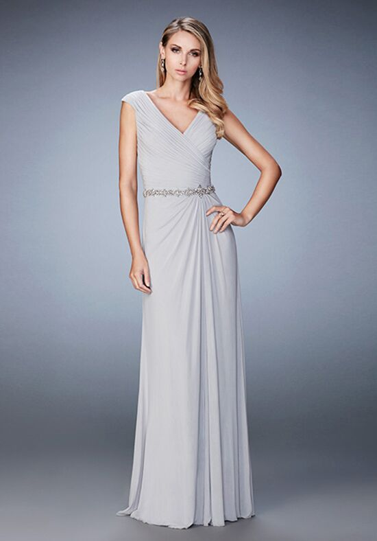 La Femme Evening 23024 Silver Mother Of The Bride Dress
