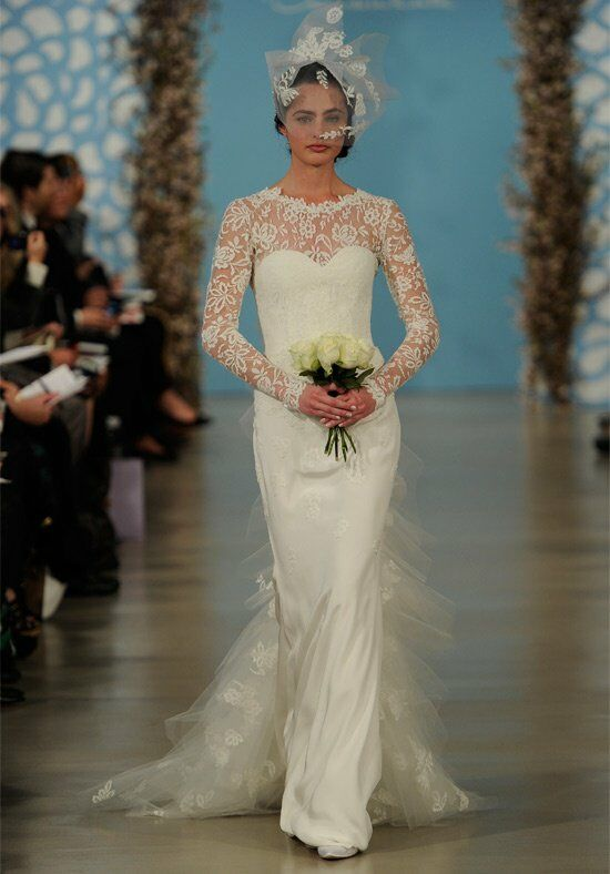 Oscar de la Renta Bridal 2014 Look 7 Sheath Wedding Dress