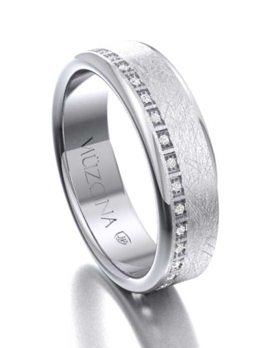 MÜZCINA by JJBückar BL32-R-100-D-OA-XX-PLT-SX-65 Platinum Wedding Ring