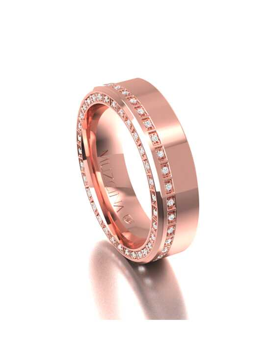 MÜZCINA by JJBückar BX30-H-100-D-OA-EA-18R-PX-65 Rose Gold Wedding Ring