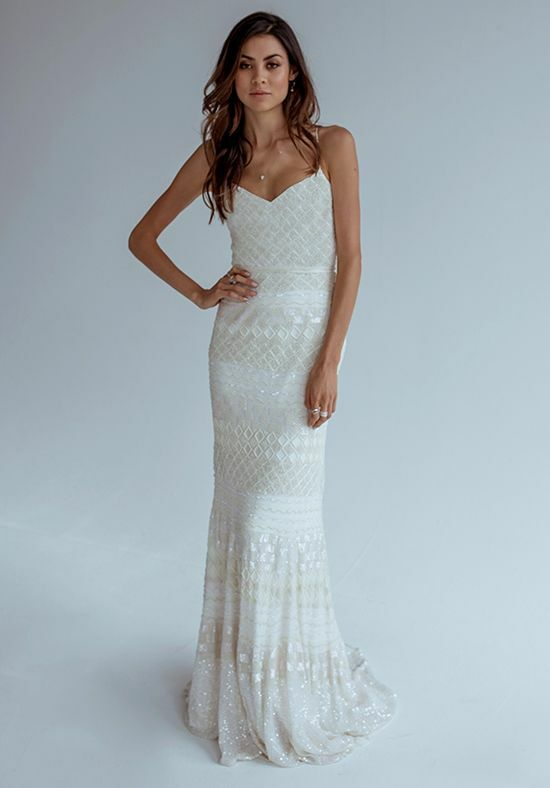KAREN WILLIS HOLMES Donna Mermaid Wedding Dress