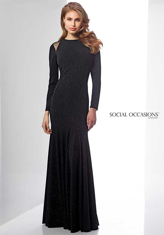 Social Occasions by Mon Cheri 217835 Black Mother Of The Bride Dress