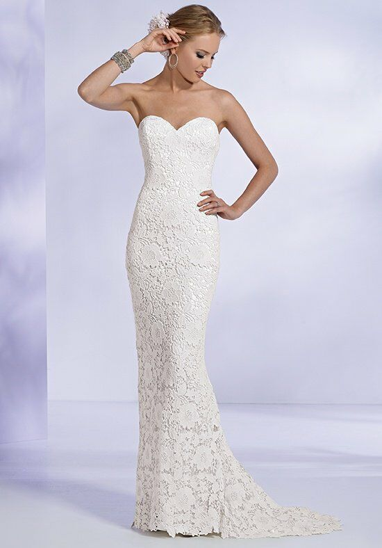 Reflections By Jordan M431 Sheath Wedding Dress