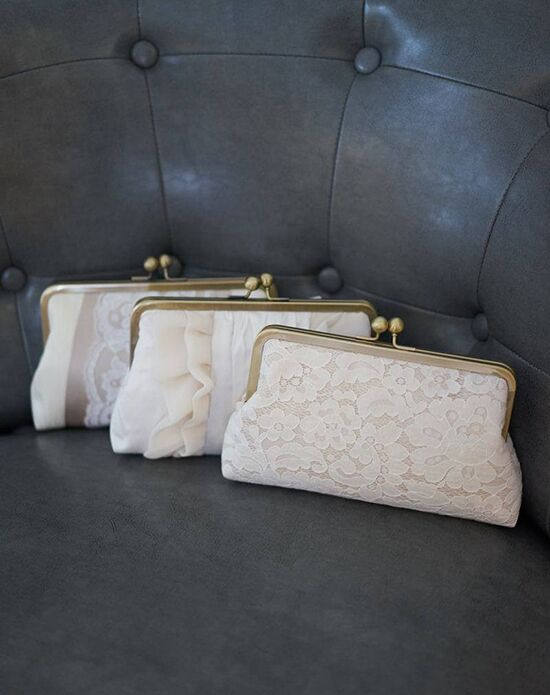 Davie & Chiyo | Clutch Collection Champagne Clutch Set Ivory, Champagne Clutches + Handbag