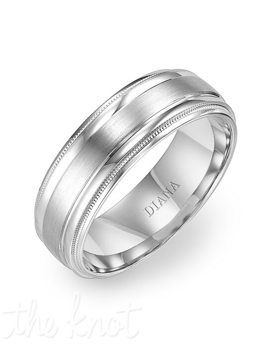 Diana 11-N7652W75-G Palladium, Platinum Wedding Ring