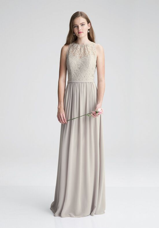 Bill Levkoff 1411 Illusion Bridesmaid Dress