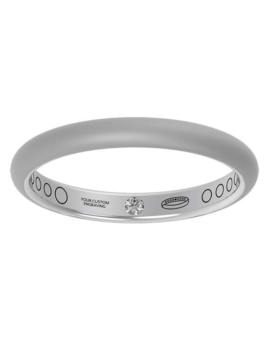 Everband 2.5 mm Classic with Matte Gold, Rose Gold, White Gold, Platinum Wedding Ring