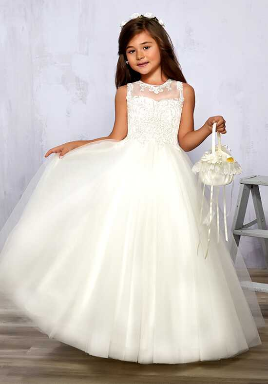 Cupids by Mary's F575 White Flower Girl Dress
