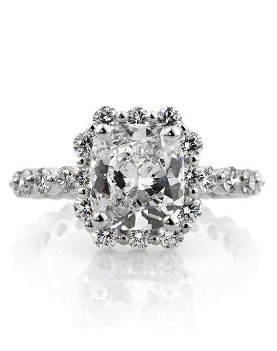 Mark Broumand Unique Cushion Cut Engagement Ring