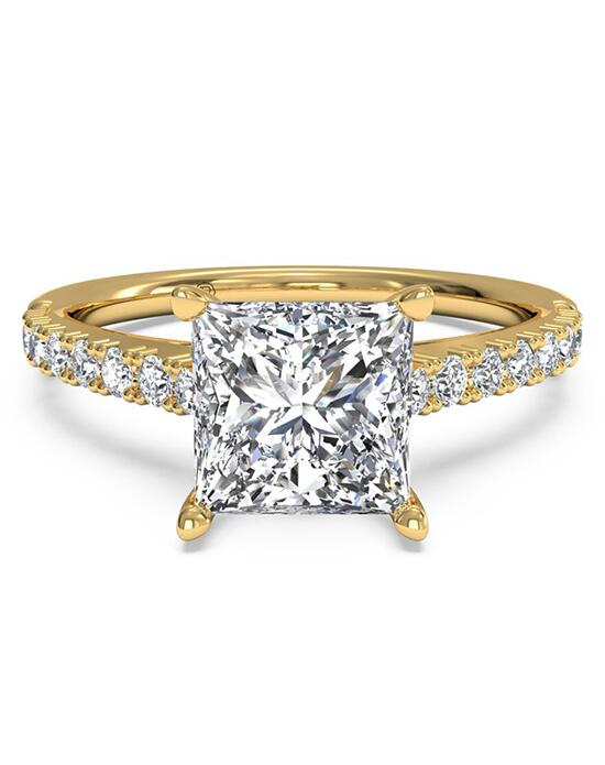 Ritani French-Set Diamond Band Engagement Ring - in 18kt Yellow Gold (0.23 CTW) for a Princess Center Stone Engagement Ring photo