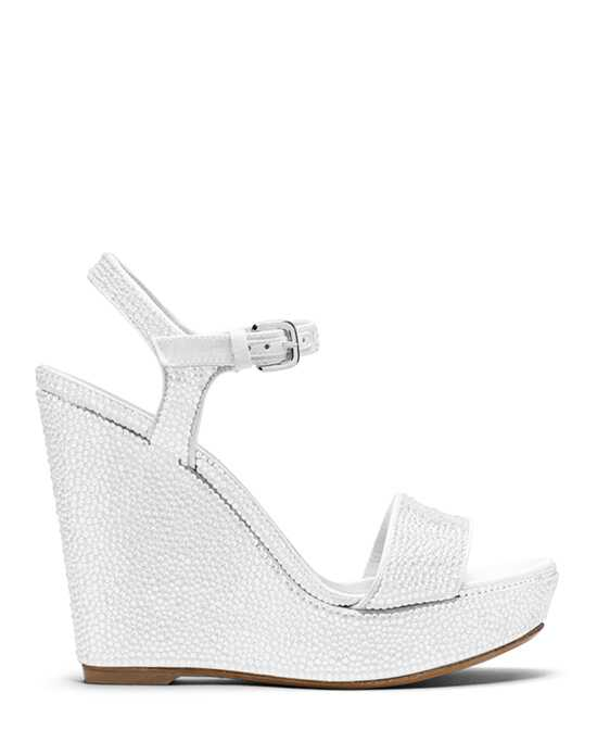 Stuart Weitzman Single Wedge Chalk White Pave  Crystals Wedding  photo