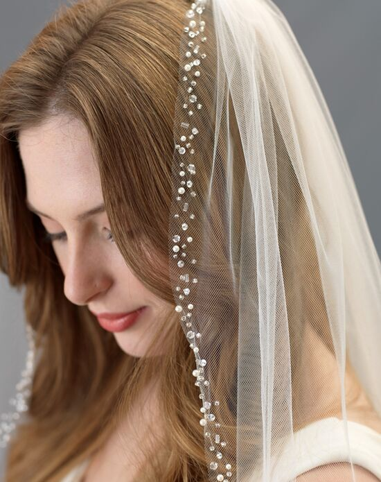 USABride Ella Scattered Pearl & Crystal Wedding Veil (1 Layer) VB-5064 Veil