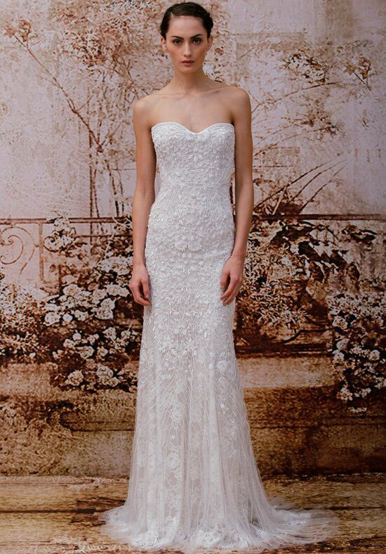 Monique Lhuillier Gweneth Sheath Wedding Dress