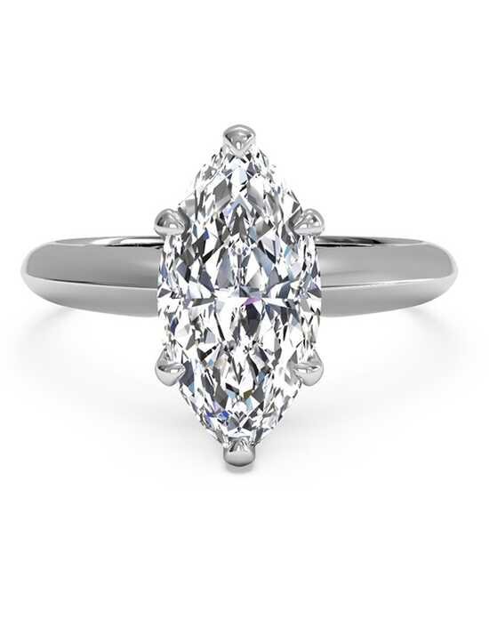 ritani solitaire diamond knife edge engagement ring - Marquise Wedding Rings