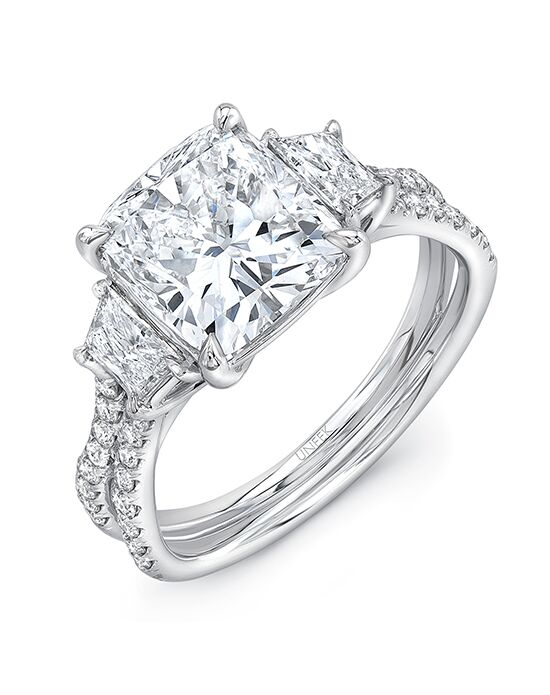 "Say ""Yes!"" in Platinum Elegant Cushion Cut Engagement Ring"