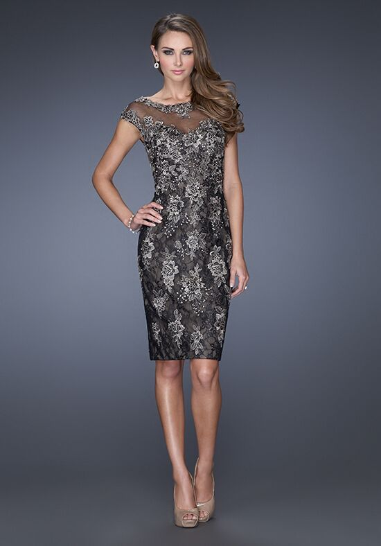 La Femme Evening 20465 Black Mother Of The Bride Dress